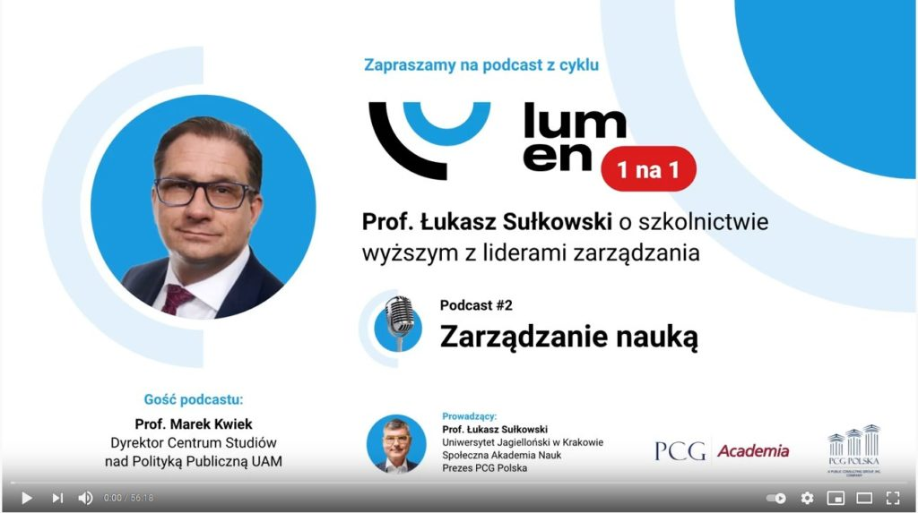 The success of Polish reforms? See a one-hour interview with Marek Kwiek in YouTube